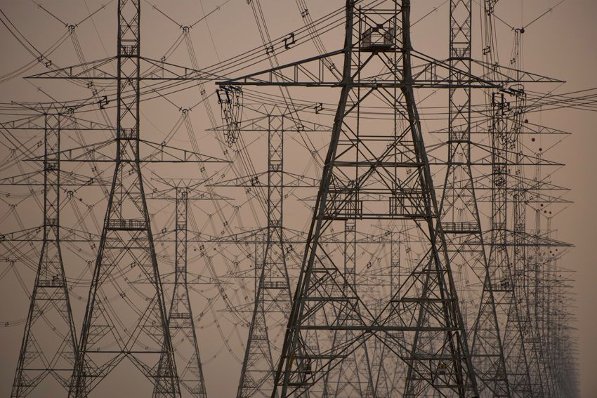 Power Lines In Saudi Arabia Disappear Into The Vastness Of The Desert Joe Mc Nally 2013 Colour Photograph Photo Graphic Tshirt Design