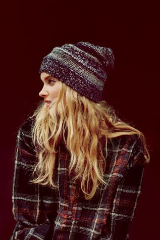Free People Womens Patchwork Beanie
