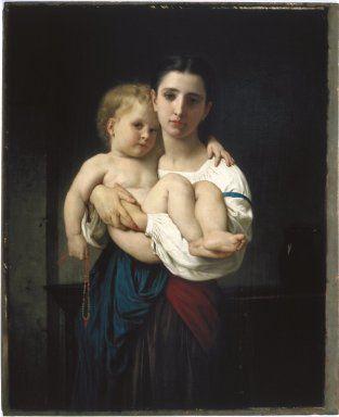 Brooklyn Museum: European Art: The Elder Sister, reduction (La soeur aînée, réduction)