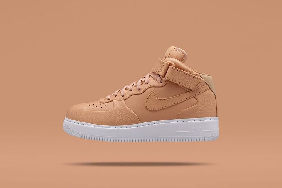 nikelab air force one low vachetta tan paint