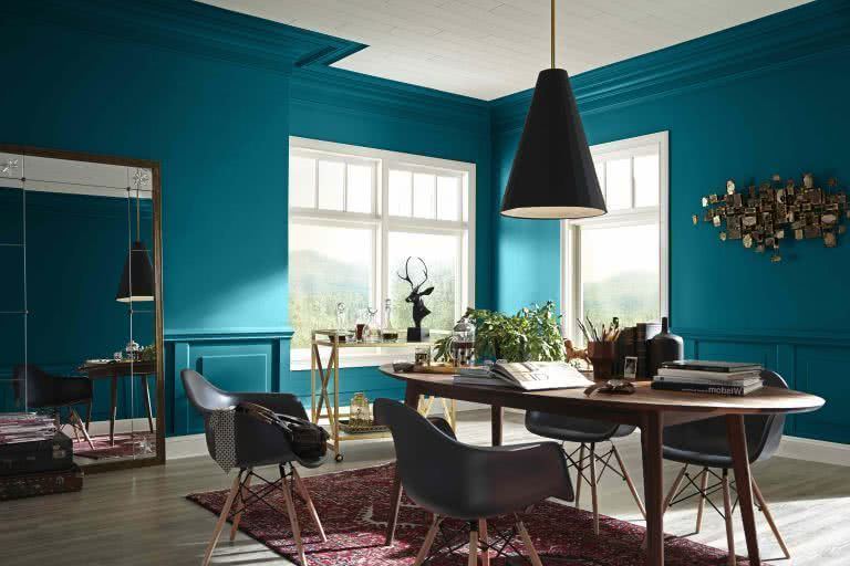 Colores Para Paredes 2020 Tendencias Para Interiores Decoracion En Turquesa Pared Azul Turquesa Colores De Pintura De Interior