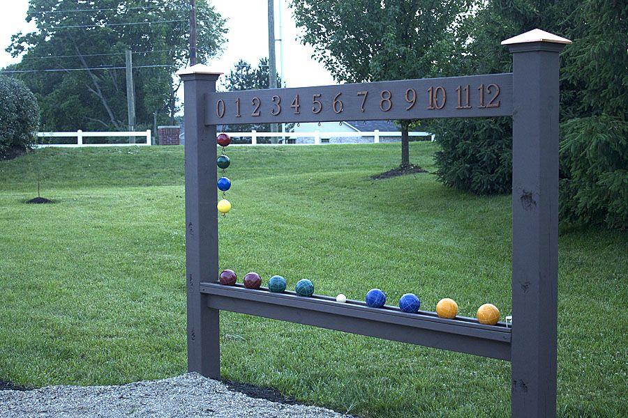 Bocce Ball Scoreboard Bocce ball court, Backyard and Gaming