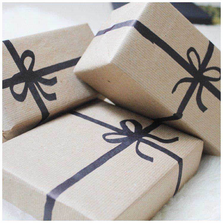 Idée Déco De Fêtes Un Paquet Cadeau Original Scrapbooking