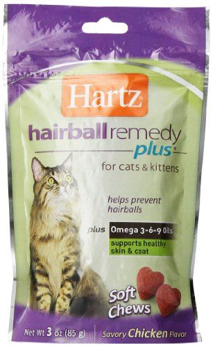 Hartz Hairball Remedy Plus Soft Chews For Cats 3oz Be Sure To Check Out This Awesome Product This Is An Amazon A Cat Care Cats And Kittens Cat Pet Supplies