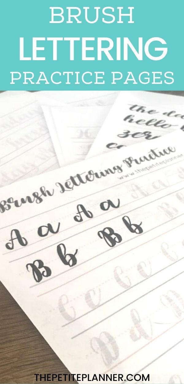 Learn Brush Lettering with These Free Practice Sheets ...
