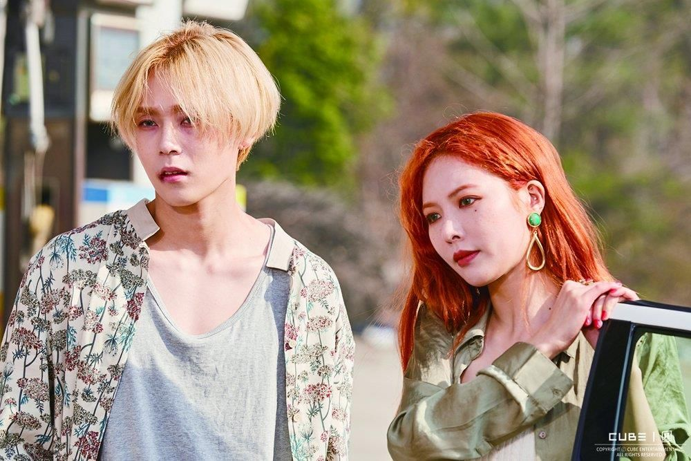 Image result for E'Dawn Gives HyunA A Sweet Kiss In New Video