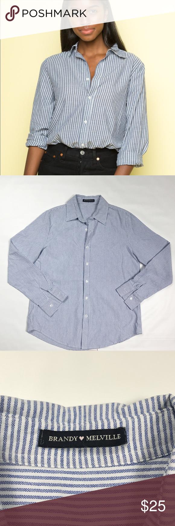 08f76b65f7959 Brandy Melville Isabela Button Down Shirt Brandy Melville
