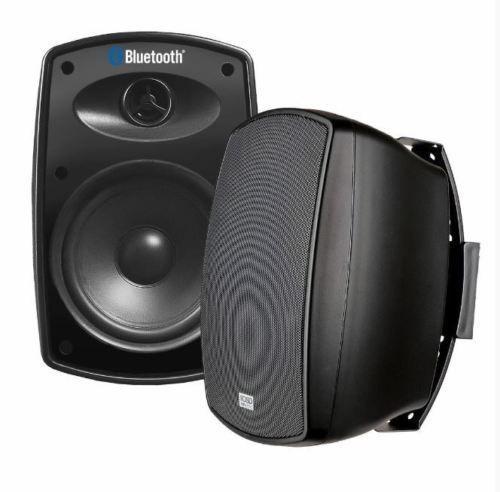 100w Bluetooth Outdoor Patio Speakers Wireless Deck Indoor Premium Sound Black