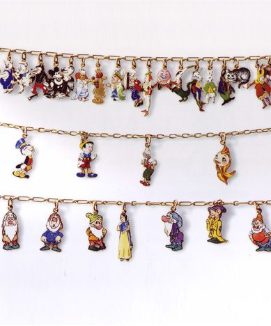 Cartier Disney Details From Walt Charm Bracelets Executed In 1939 By