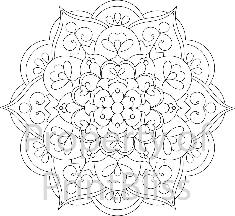 20 Flower Mandala Printable Coloring Page Etsy Mandala Printable Mandala Coloring Pages Flower Mandala