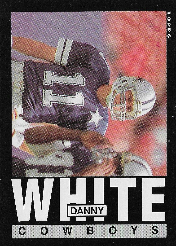 1985 topps 51 danny white football cards sports cards