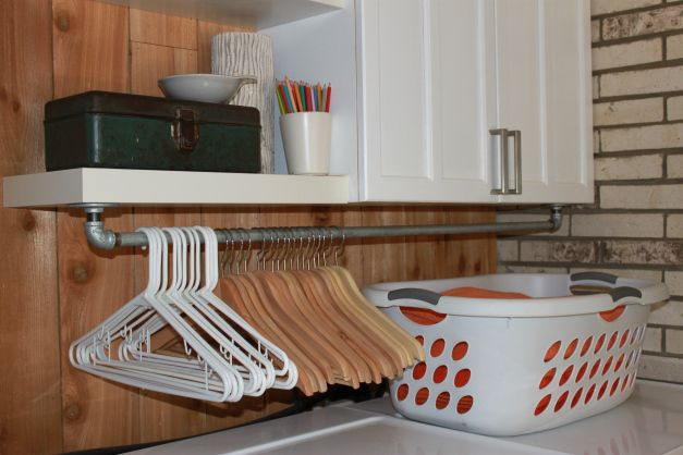 Beautiful DIY Under Cabinet Clothing Rod