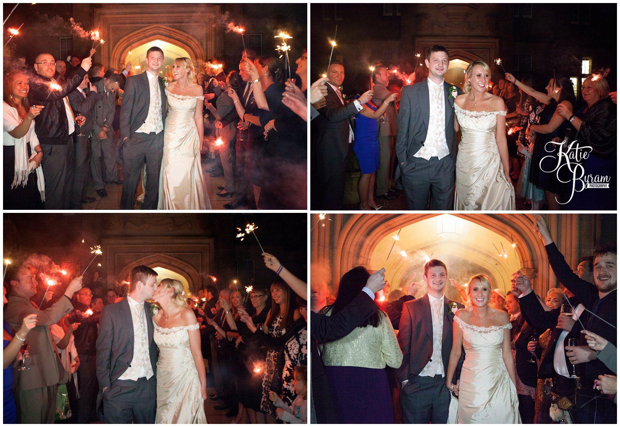 Matfen Hall Wedding Sparkler Exit Sparklers Wedding Sparklers