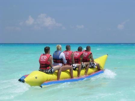 Haha Sooo Fun Banana Boat Cancun Resorts Water Fun