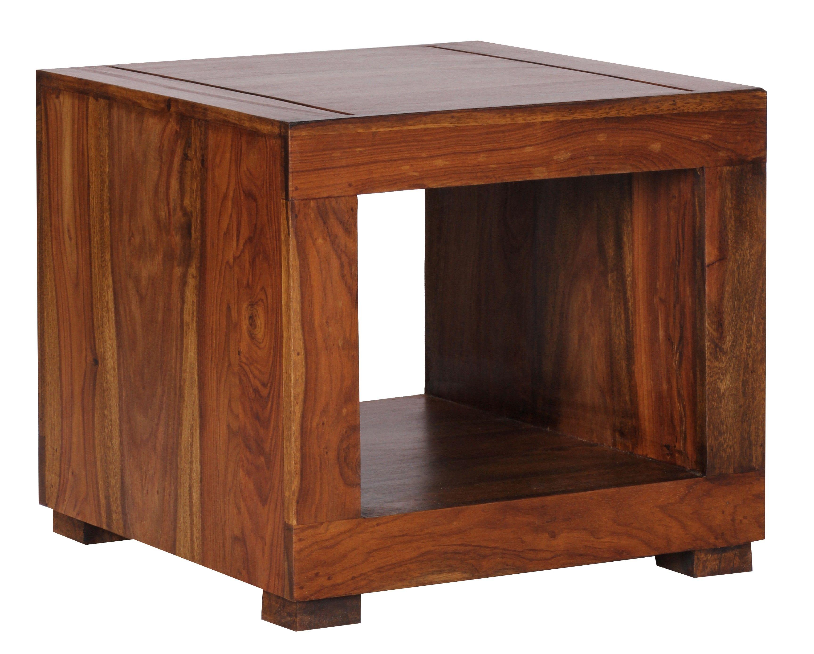 Schlafzimmermöbel Massivholz ~ Sheesham couchtisch massiv 50 x 50 cm massivholz ambience home