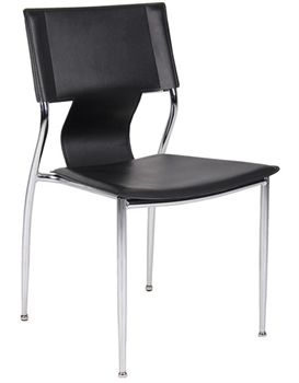 Edinburgh Chrome Contemporary Meeting Chair Steel Tubed Stacking