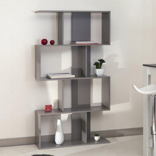 165cm Bookcase Castleton Home Colour Taupe Bookcase Cube