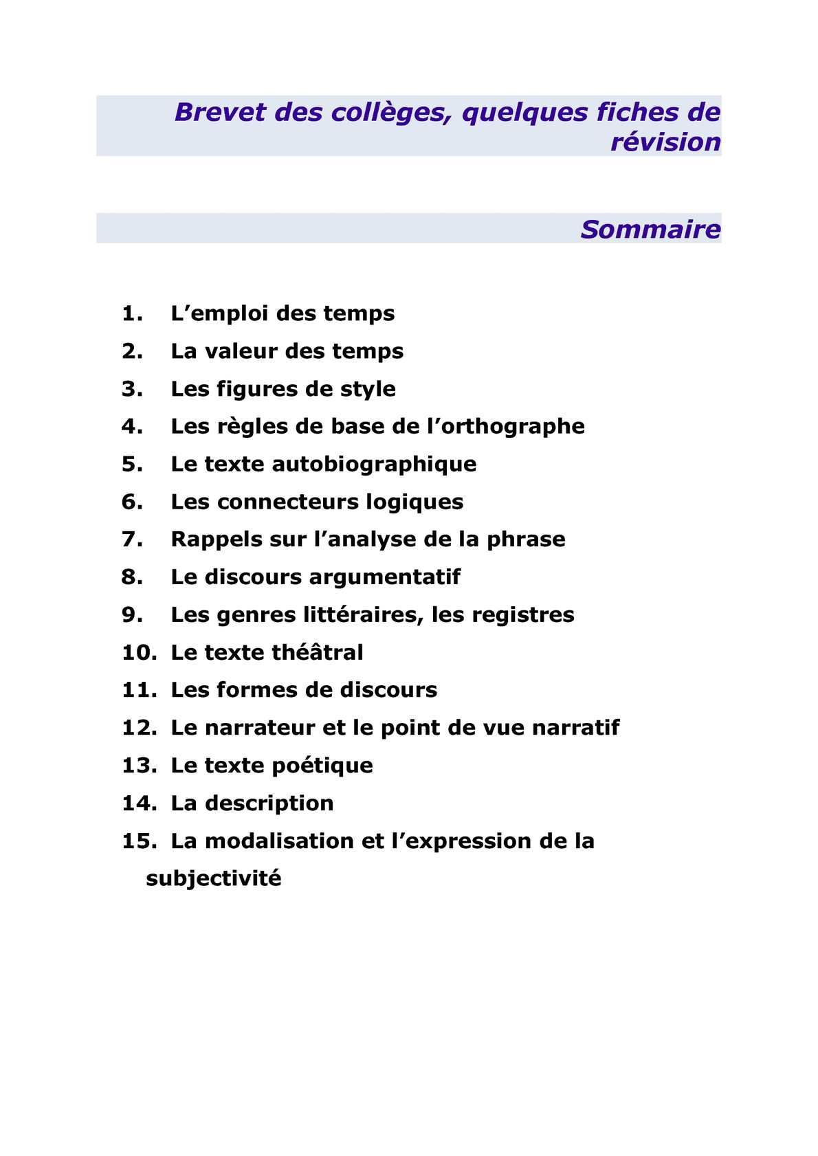 Fiche Revision Brevet Francais Pdf : fiche, revision, brevet, francais, Épinglé, Jacline44, C4-Collège, Franç5-Littérature, Brevet, Collèges,, Révision, Français,, Français