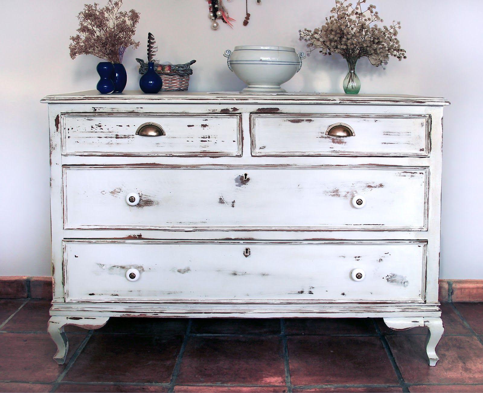 Envejecer un mueble desgast ndolo comoda en 2019 - Pintar muebles viejos ...