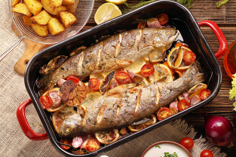 Trota Al Forno Con Verdure Ricetta Ricette Secondi Piatti Pork
