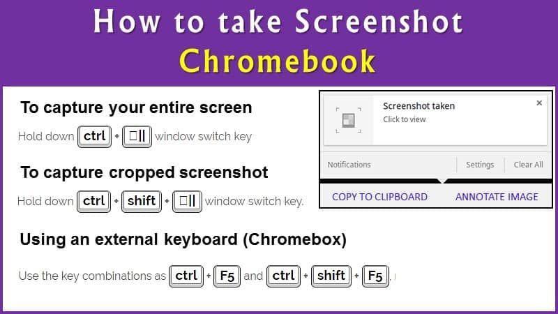 9 Easy Ways To Take Screenshots Print Screen On Chromebook 2018