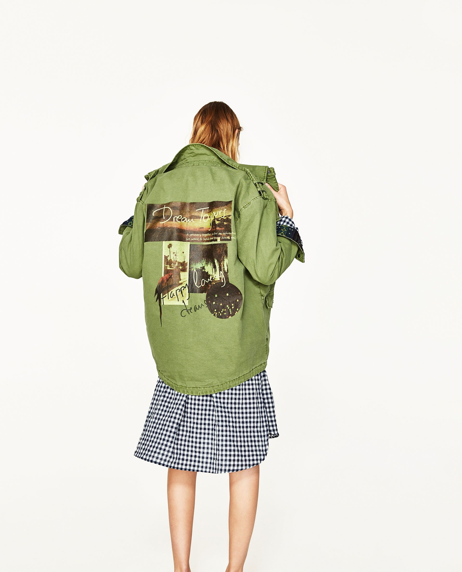 0ccaf60fc7 PARKA WITH BACK PRINT | Women's Back to School Fashion | Parka ...