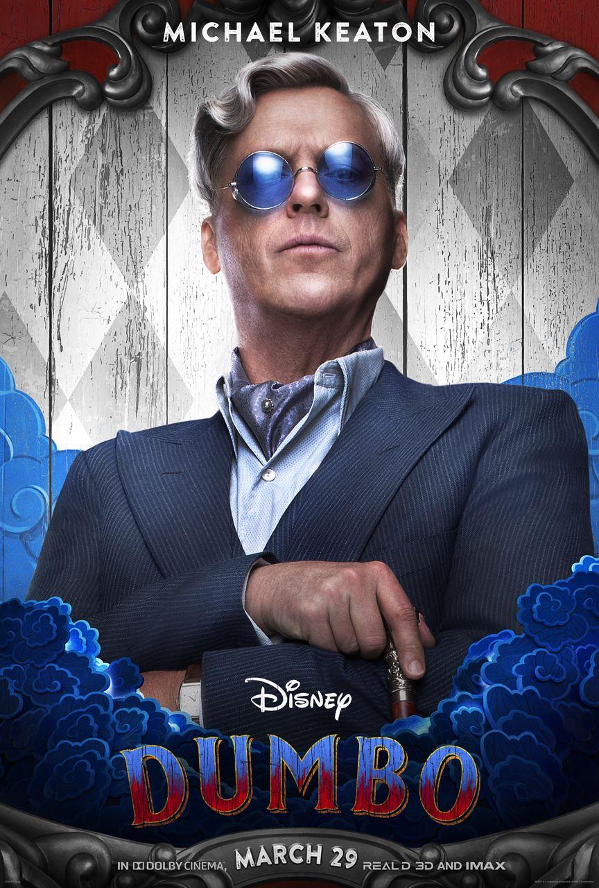 New Movie Posters For Disney S Dumbo Have Been Released Michael Keaton Dumbo Movie Dumbo