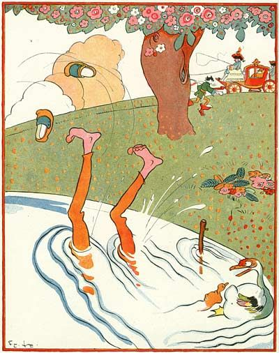 Illustrations by Felix Lorioux for  Puss in Boots from Perrault published in 1926.