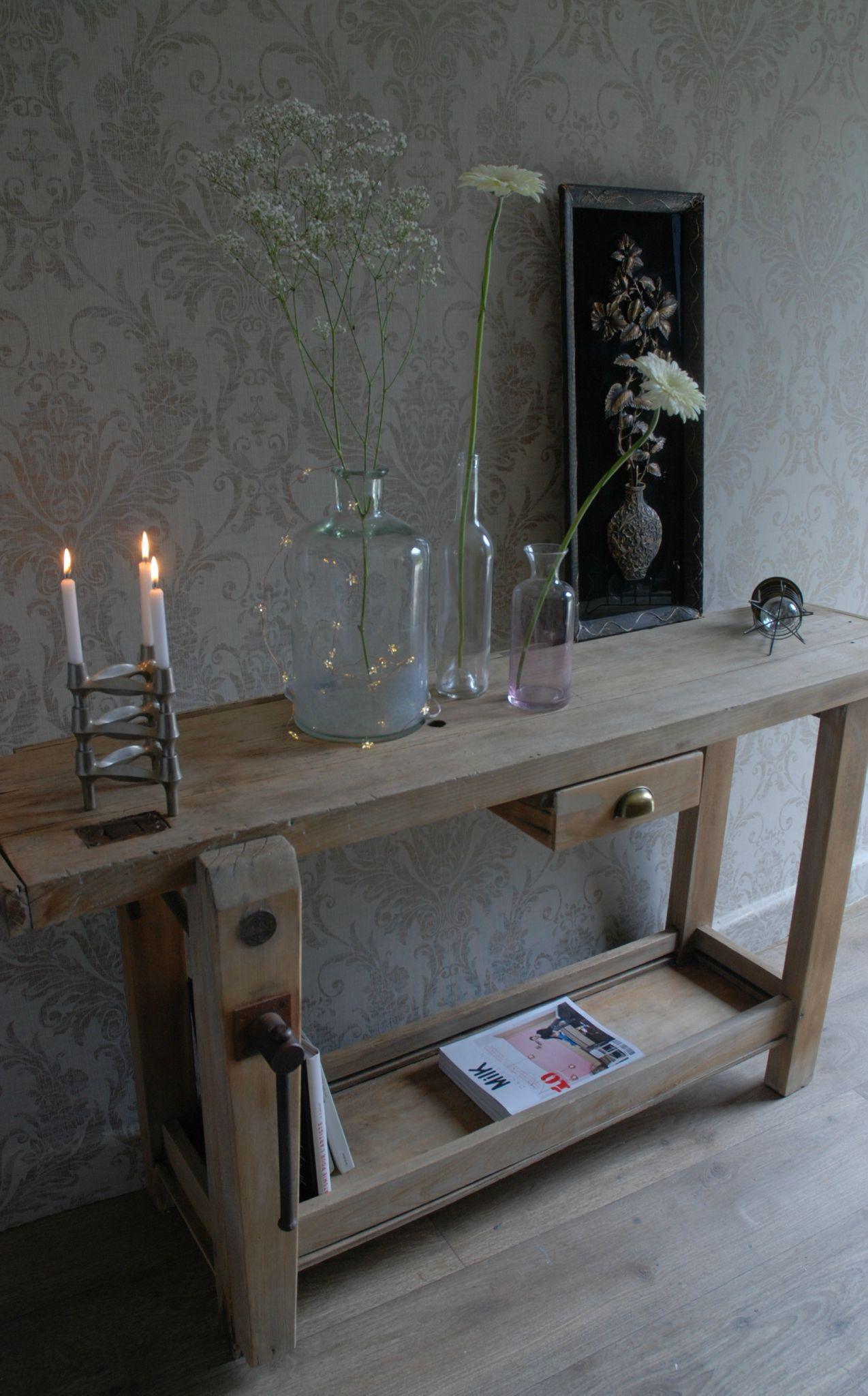 etabli console vendue atelier vintage tablis ancien et meubles. Black Bedroom Furniture Sets. Home Design Ideas