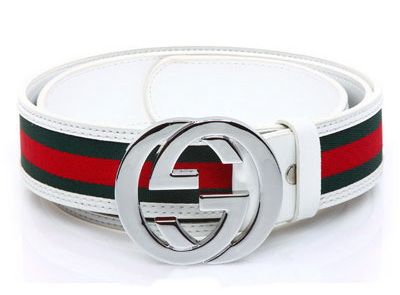 "Gucci interlocking G Buckle White Leather Belts Mens Buckle Color : Silver Belt Wide : 1.5"" inches Belt Length : 45"" inches ( can cut down ) Belt Fit Waistline : 32""-40"" inches 1 Inches = 2.54 Centimeter ** We can make size fit for you require please email to me again. **"