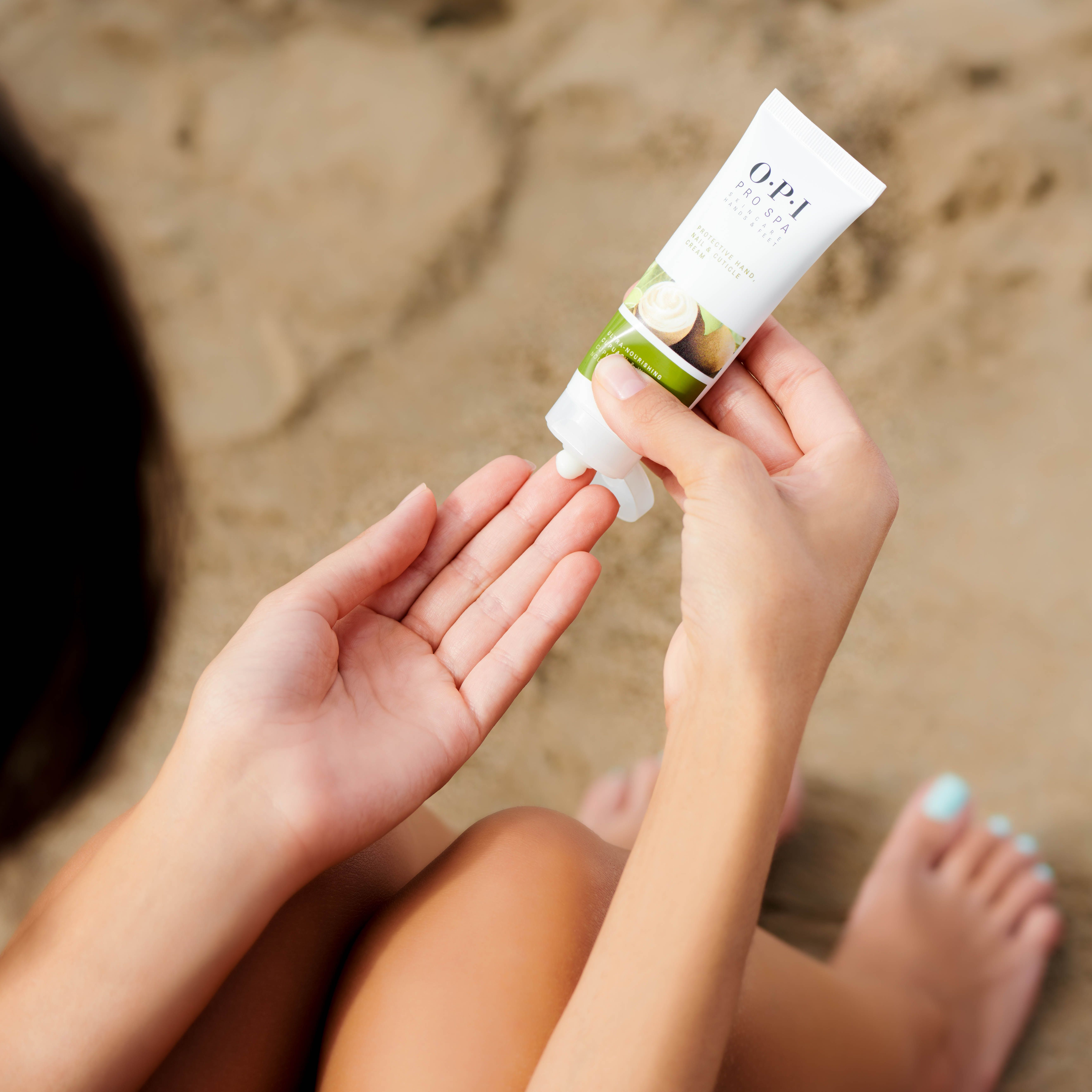 Protect Your Skin From The Sand And Sun With Opi Pro Spa Protective Hand Nail Cuticle Cream Shop Here