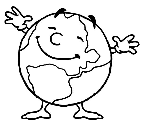 simple earth coloring page mr earth day is very happy today coloring page download print word search pages