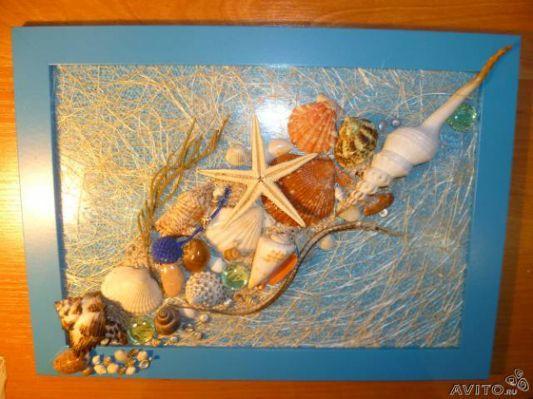 Панно из ракушек из ракушек фото (с изображениями ...