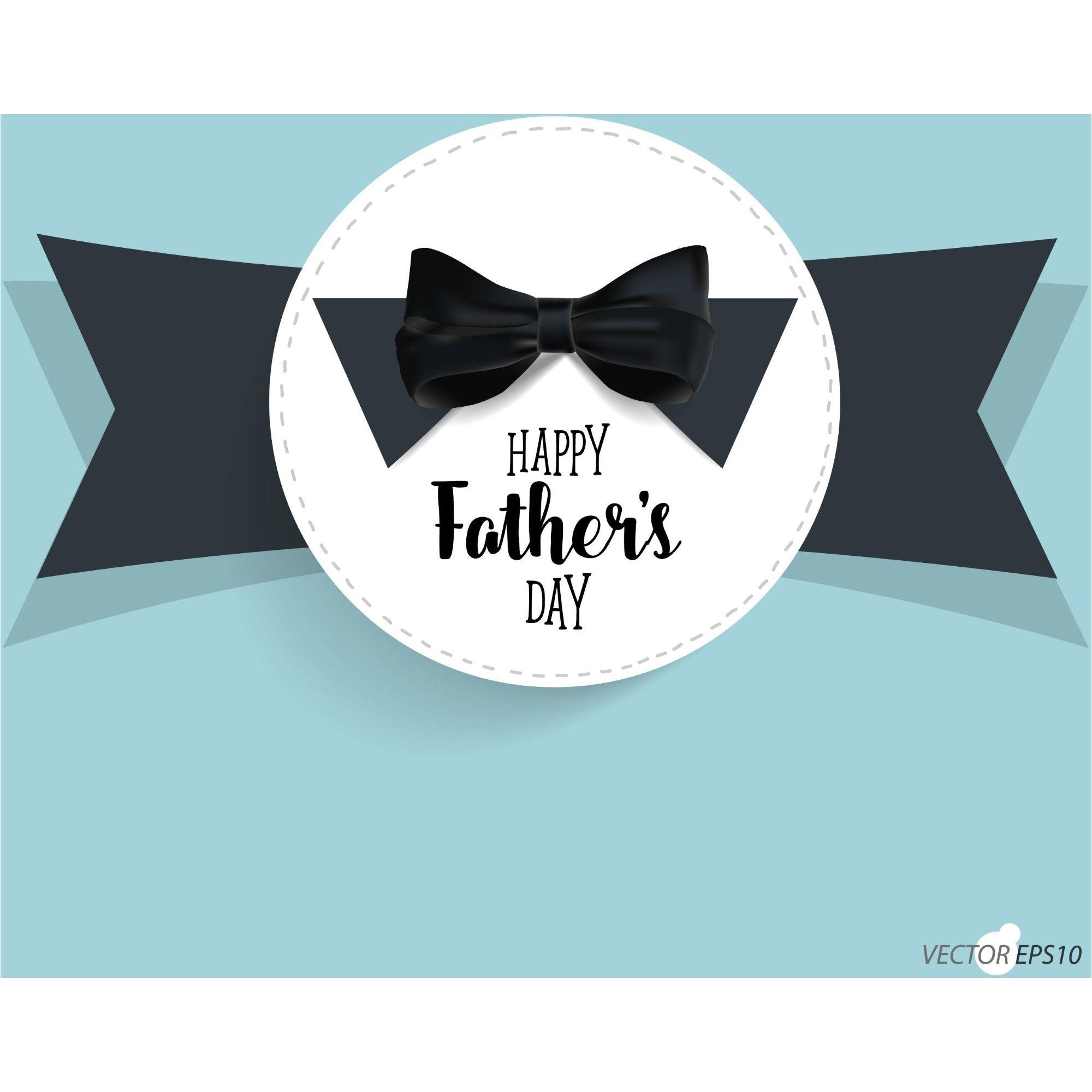 Happy Fatheru0027s Day With Black Tie Background