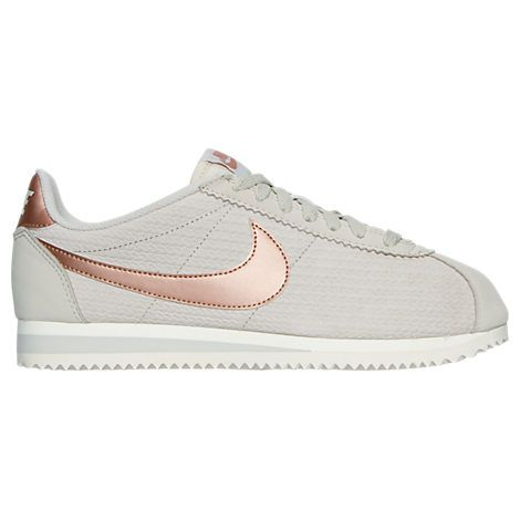 new arrival e5eab bce87 Womens Nike Cortez Leather Lux Casual Shoes (I want the black shoe with  rose gold swoosh)