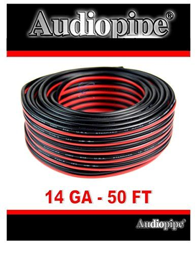 50 Feet 14 Gauge Red Black Stranded 2 Conductor Speaker Wire Car Home Audio Want Additional Info Click On The Image Speaker Wire Audiopipe Audio Cable