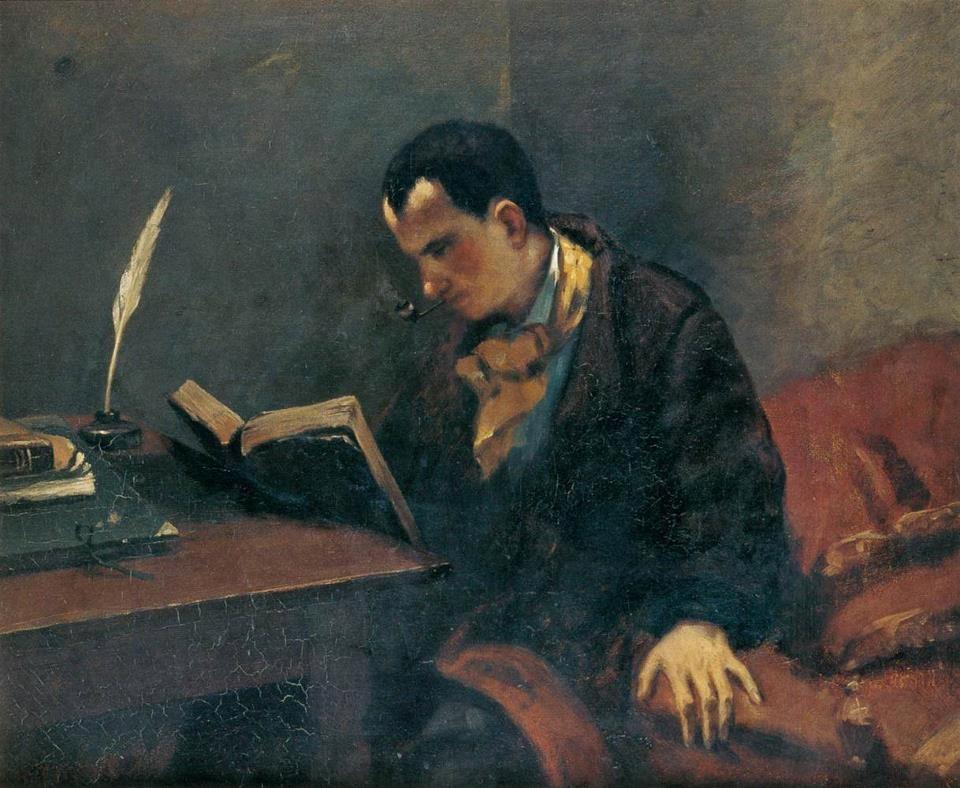 Portrait de Baudelaire, Gustave Courbet, 1848