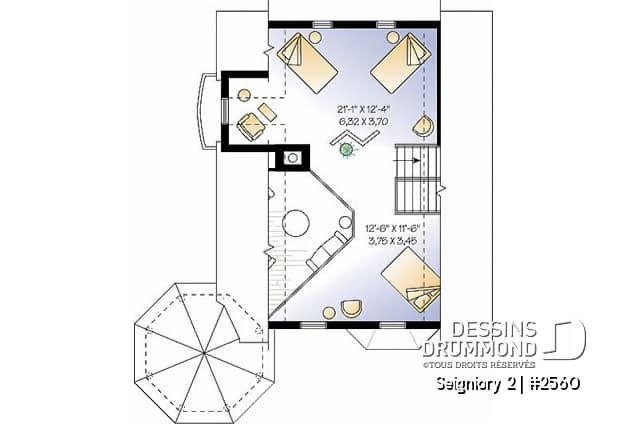 Plan de maison unifamiliale Seigniory 2 No. 2560