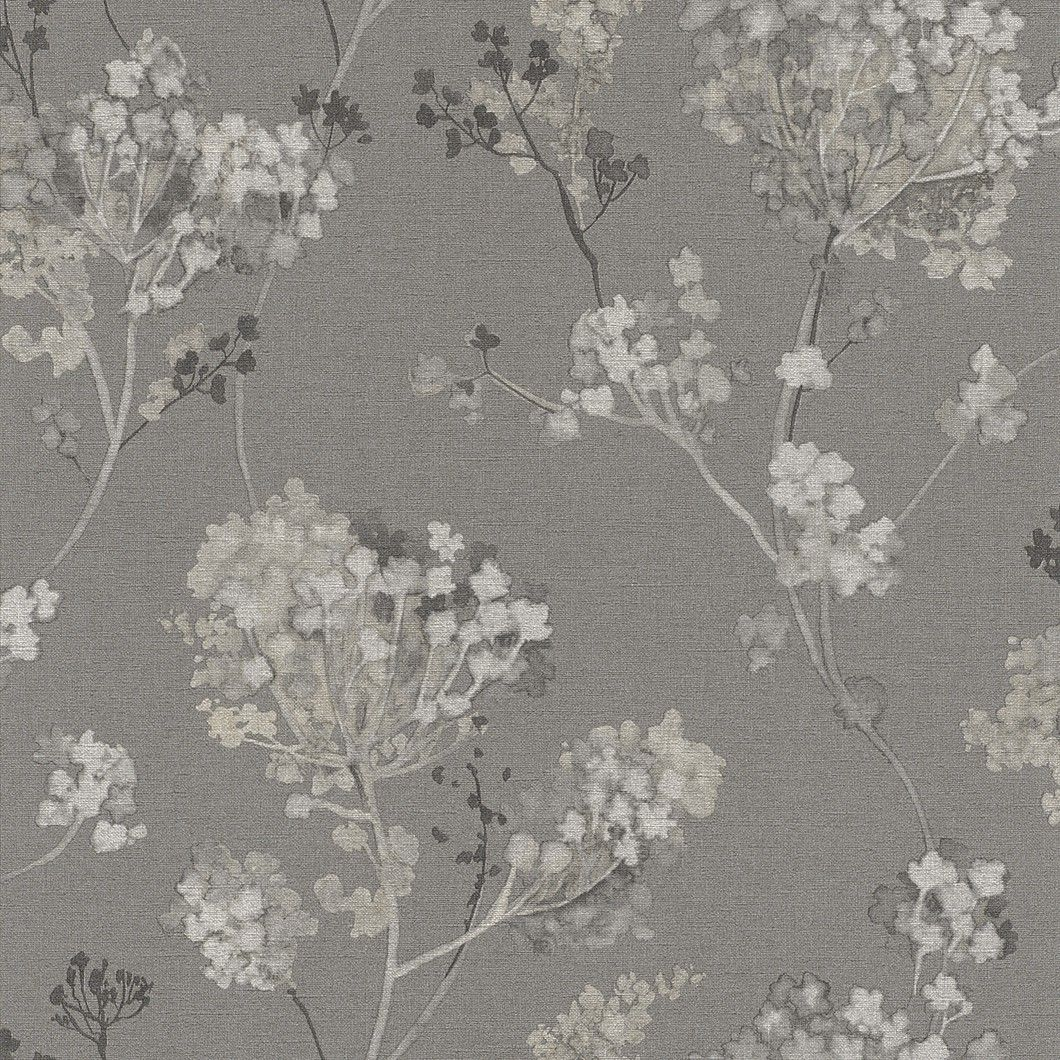 Non Woven Wallpaper Grey White Beige Floral Design Rasch Florentine 2017  Wallpaper 449242 Wallpaper Brands