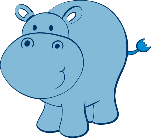 cute hippo free svg | zoo | Pinterest | Elefantes y Azul