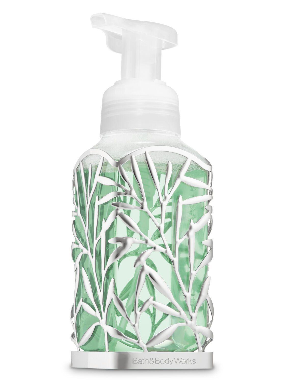 Bath Body Works Nickel Vines Gentle Foaming Soap Holder Soap