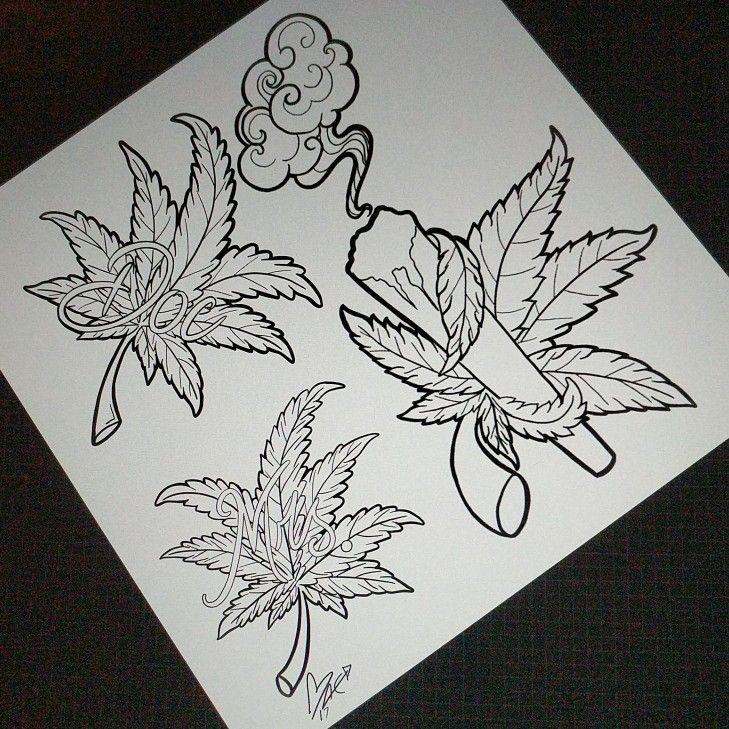 Weed Cannabis Marijuana Art Painting Drawing By @em.aye.ee