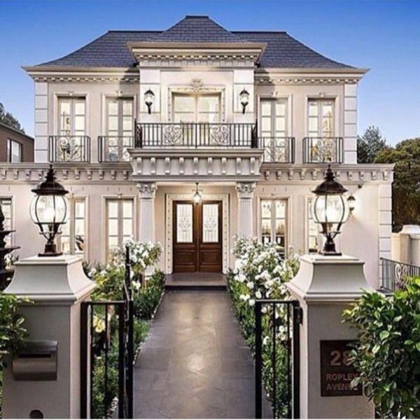 Amazing Haus Bauen, Haus Exterieur Design, Hauswand, Haus Design, Moderne Häuser,  Luxushäuser, Schmales Haus, Georgianischer Haus, Französische Häuser