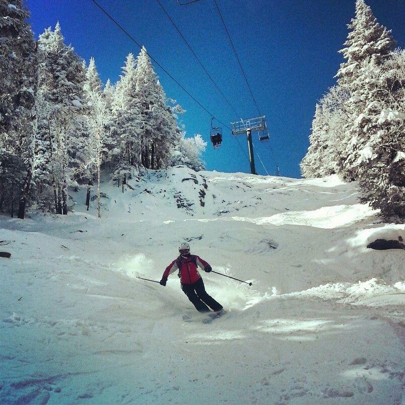 Castle Rock at Sugarbush. Ski the East baby! Snow skiing