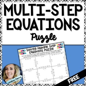 Multi Step Equations Free Activity Success In Secondary