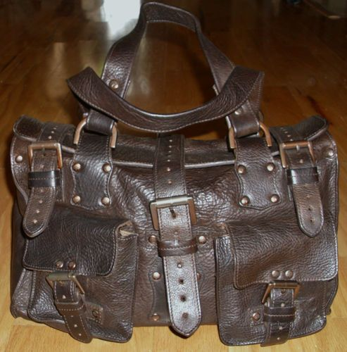 Mulberry Handbag Roxanne Satchel Chocolate Brown Darwin OAK Leather Nwot  Auth  194a2cd13f730