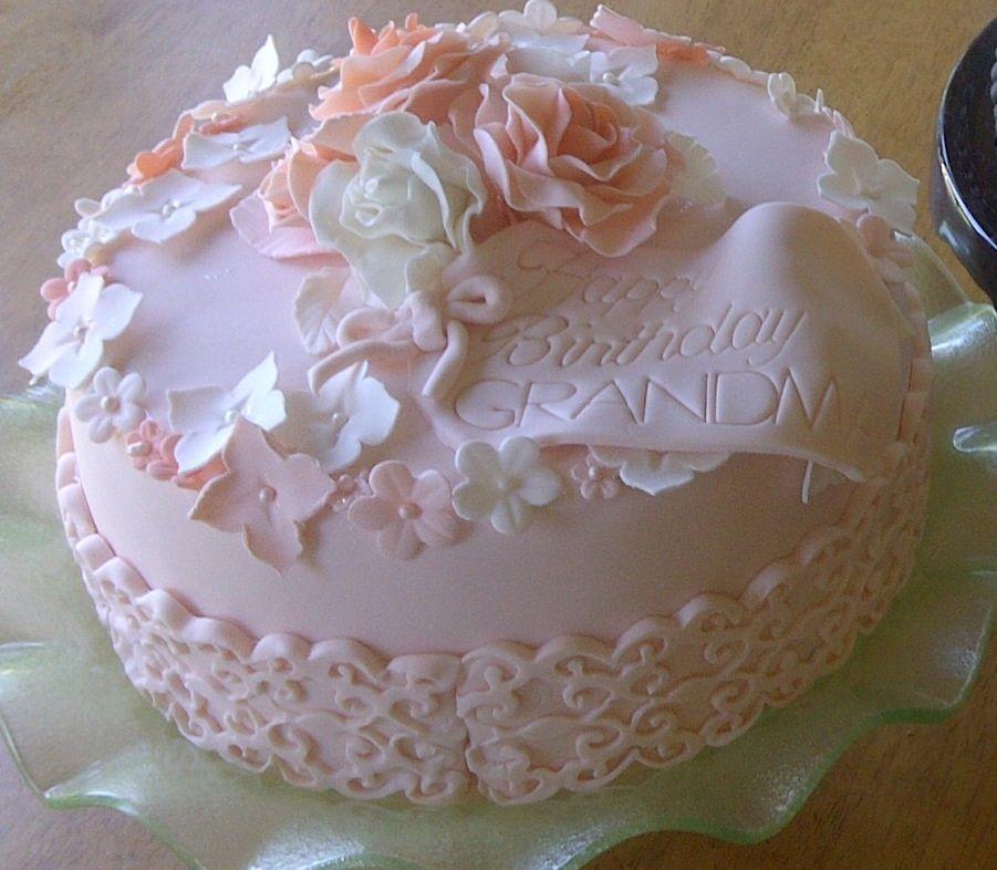 Birthday Cakes Birthday cake for my motherinlaw Strawberry cake