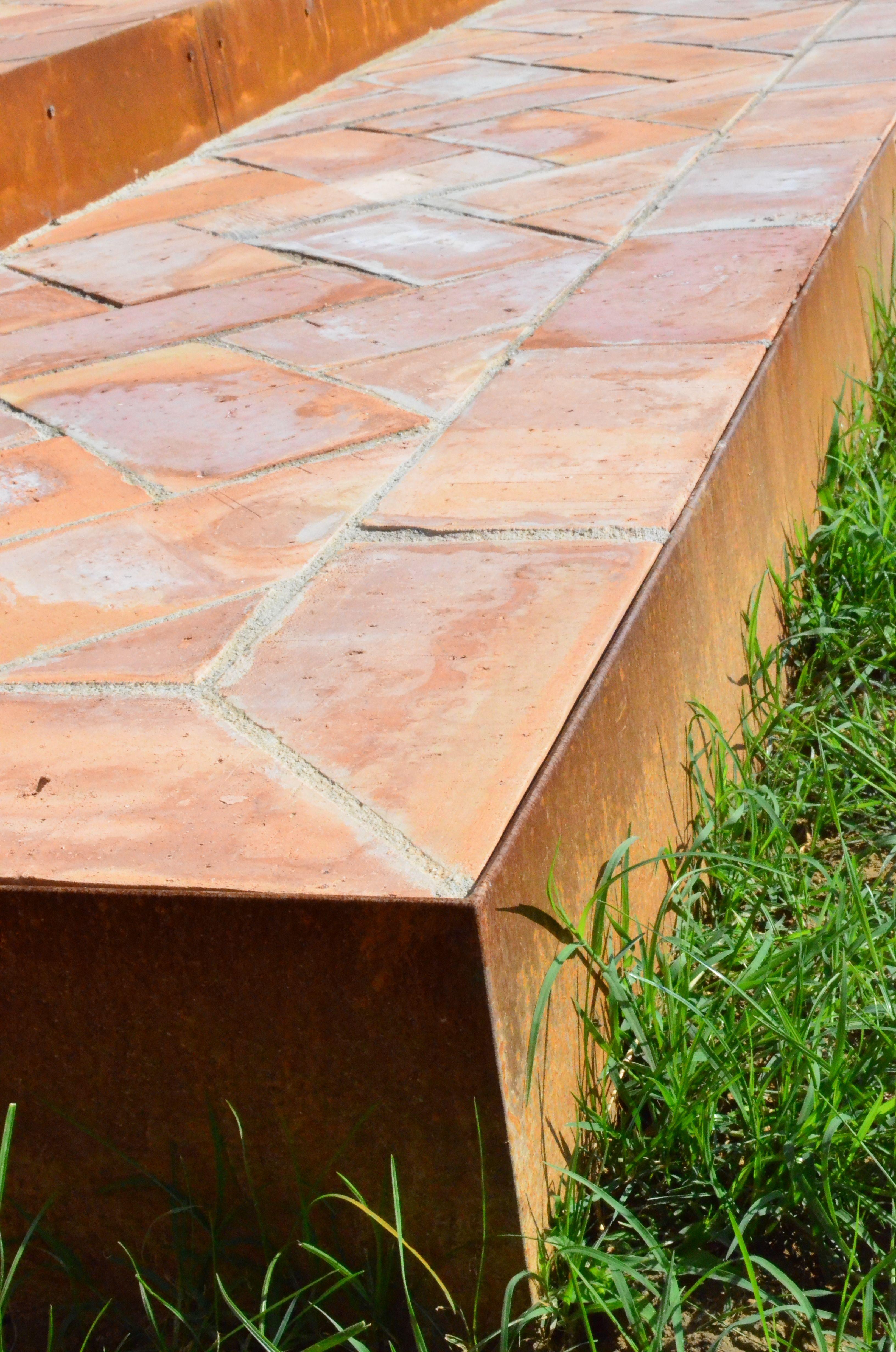 Gradini Per Giardino Realizzati Con Bordure Acciaio Corten