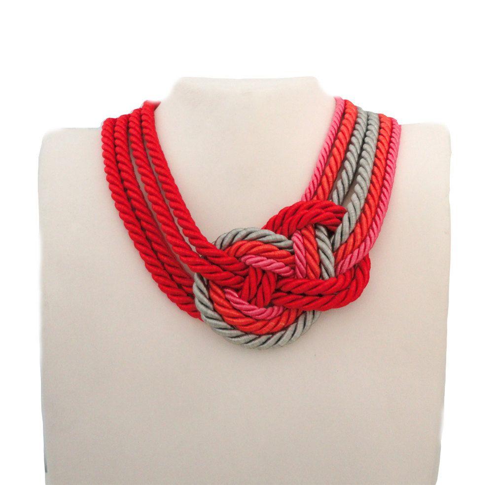 Multicolor Nautical Sailor's Knot Collar Necklace