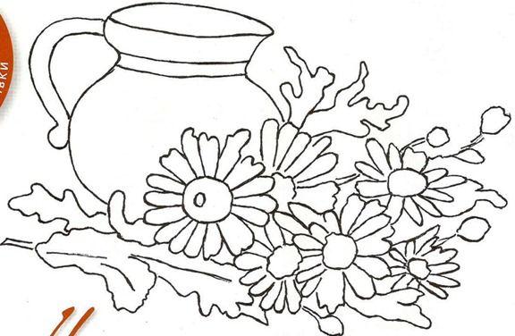 Desenhos Riscos Margaridas Pintura Em Tecido Riscos Para Pintura